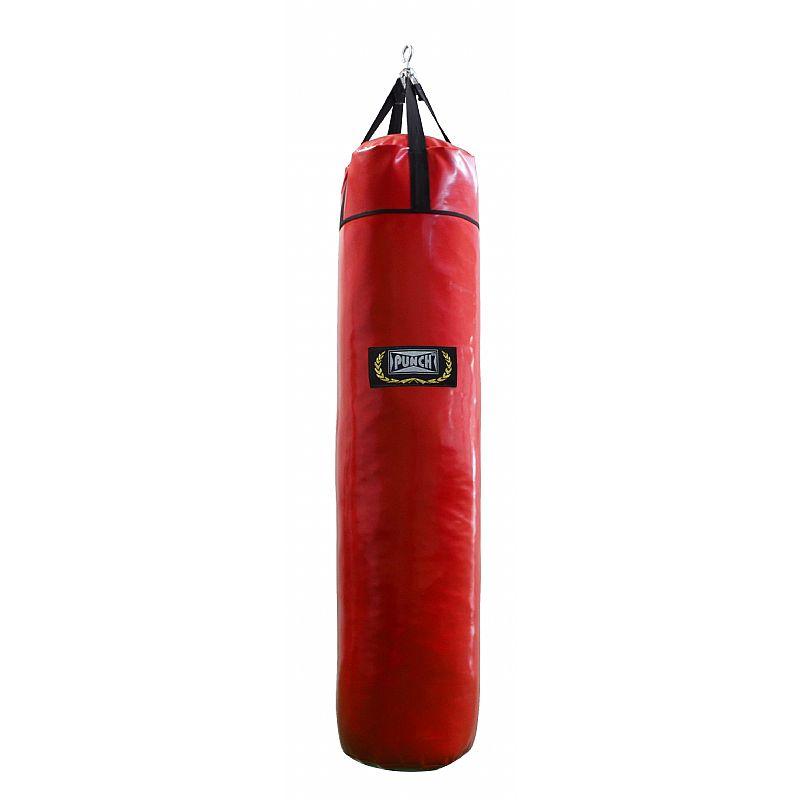 Saco de pancada couro sintético 120cm Vermelho (70kg)